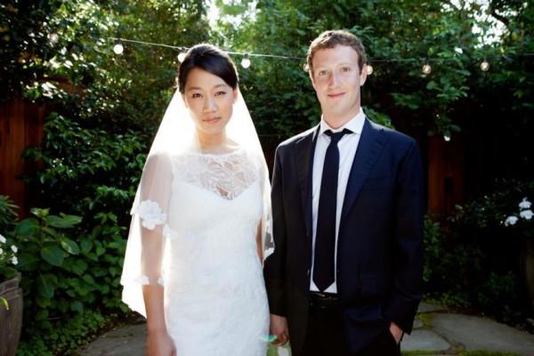 Mark Zuckerberg and Priscilla Chan wedding picture