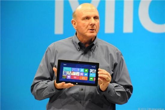 Microsoft CEO Steve Ballmer unveils the new Surface tablet