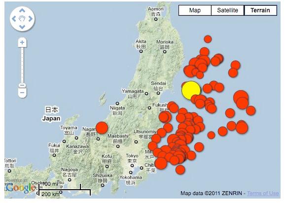 Japan Earthquake Map Today.Fukushima Earthquake Moved Seafloor Half A Football Field Pbt