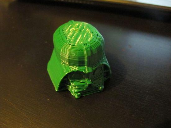 Darth Vader head made using a Makerbot 3D printer