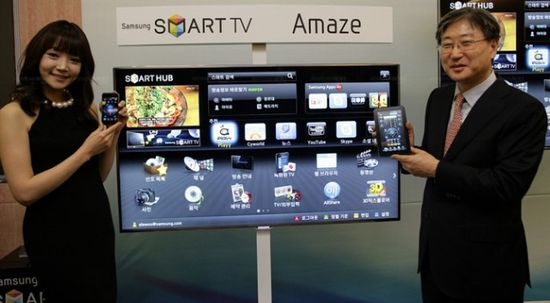 Samsung shows off its Smart TV Hub at CES 2012