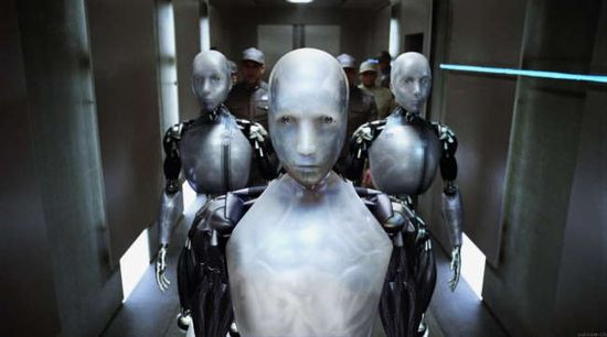 The robots in the sci-fi movie 'I Robot'