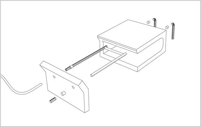 Adi Zaffran's cinder block and rebar toaster diagram