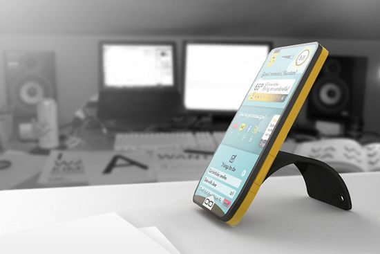 Modai concept smartphone, the phone with replaceable brains, back includes a peel-back cover that serves as a stand 4