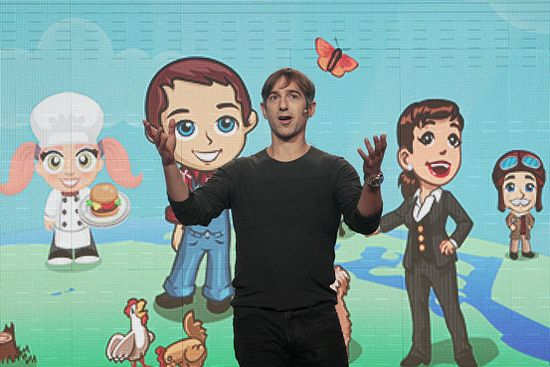 Zynga CEO Mark Pincus, seen in an October photo, believes the company's IPO was successful.