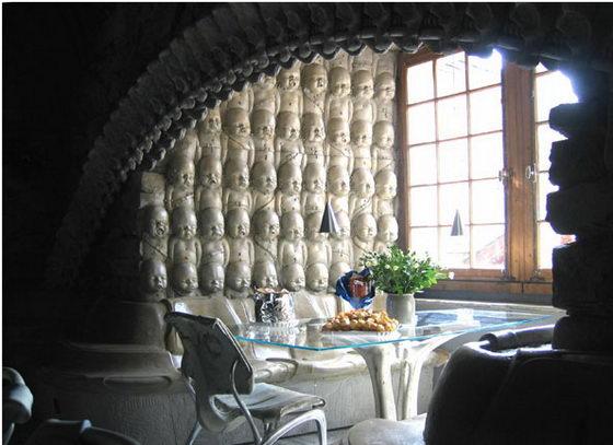 Interior of the HR Giger 'Alien' Bar in the HR GIger Museum in Gruyeres, Switzerland 6