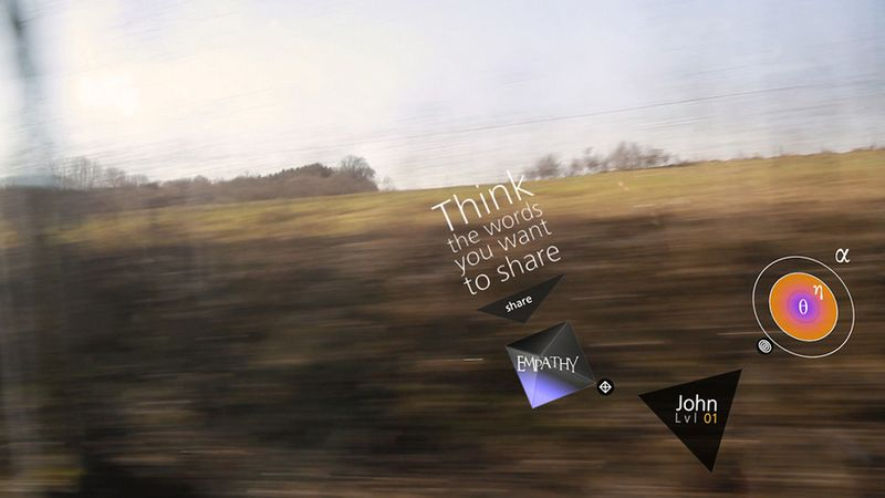 Transcendenz AR glasses send the wearer messages to provide imput by thinking