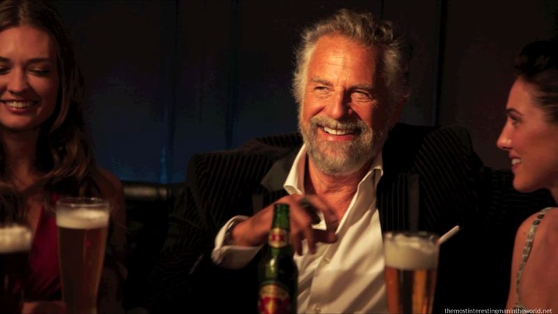 Jonathan Goldsmith as 'The Most Interesting Man in the World' - Dos Equis