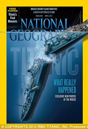 The first-ever views of the complete remains of the ship in full profile can be found in the April 2012 edition of National Geographic Magazine