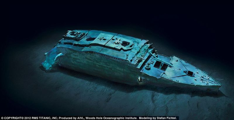 Ethereal views of RMS Titanic's bow (modeled) offer a comprehensiveness of detail never seen before