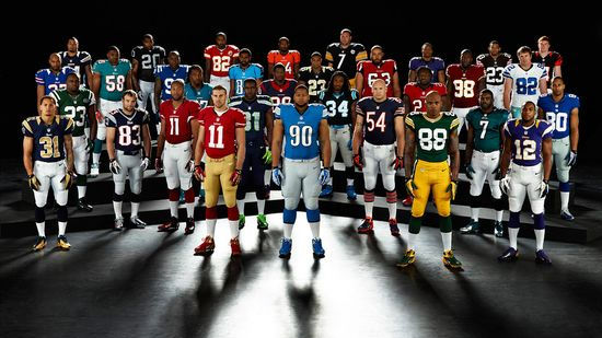 Nike - Team Uniforms of the NFL's 32 professional football franchises