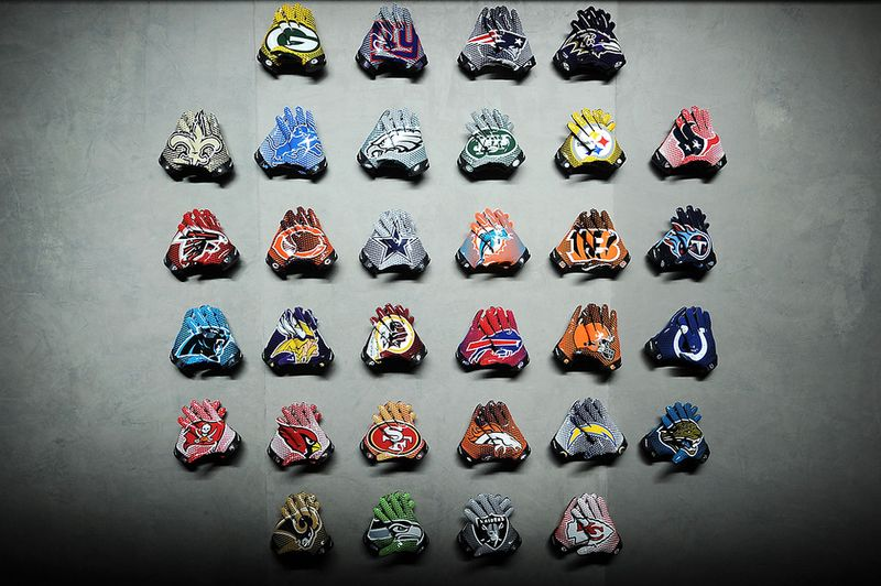 Nike - Team gloves of the NFL's 32 professional football franchises