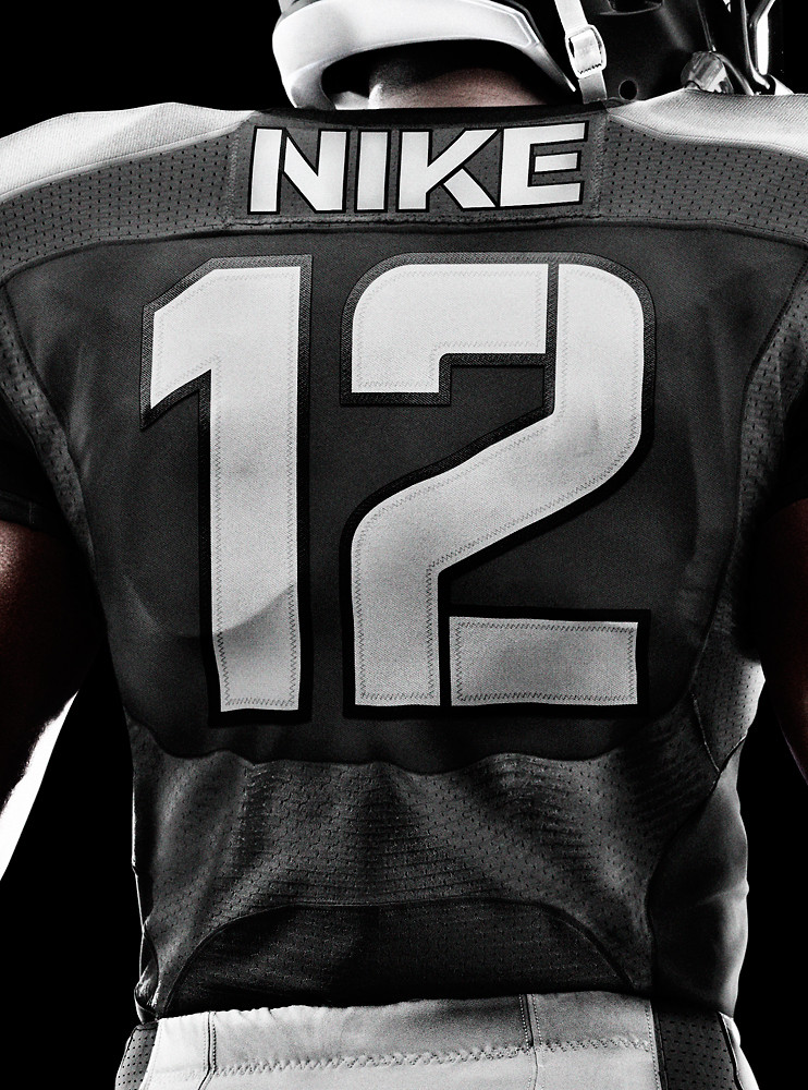 Nike - Rear view of NFL professional player team jersey