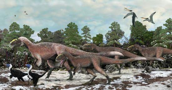 Yutyrannus, a giant tyrannosaur with feathers