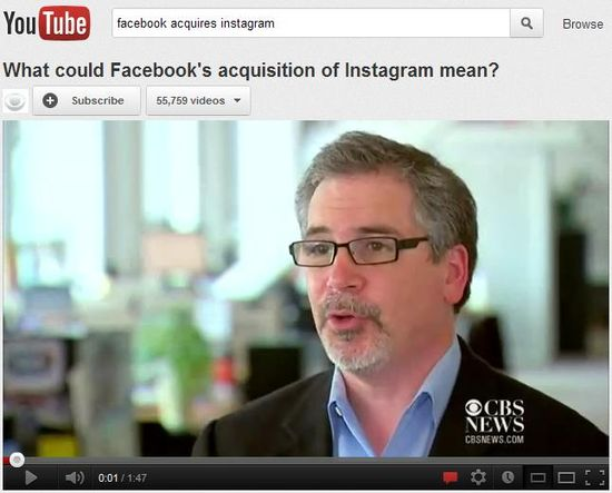 Facebook acquires Instagram and what the acquisition may mean