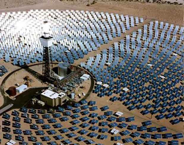 BrightSource Energy concentrated solar power array farm