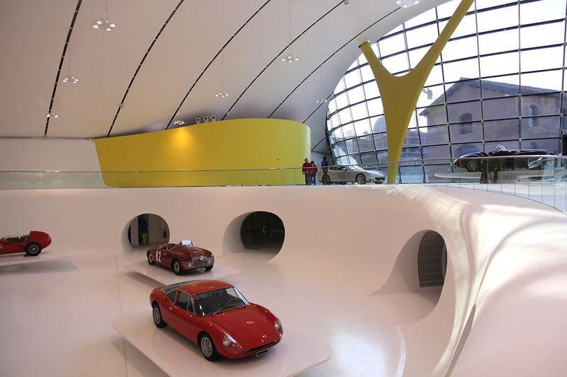 New Enzo Ferrari Museum looks like the hood of a hot sports car 5