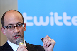 Twitter CEO Dick Costolo speaks to reporters in Tokyo on April 16