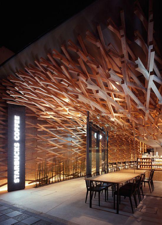 Kengo Kuma's ultra-cool new Japanese Starbucks 4