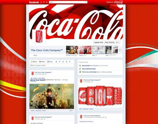 Coca-Cola's Facebook timeline page