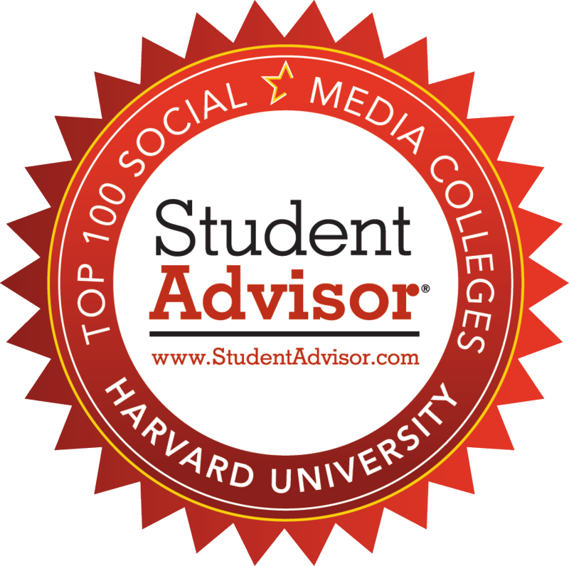 Harvard University is ranked No 1 in the Student Advisor 'Top 100 Social Media Colleges' for 2011