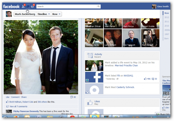Mark Zuckerberg announces marriage to Priscilla Chan on his Facebook page