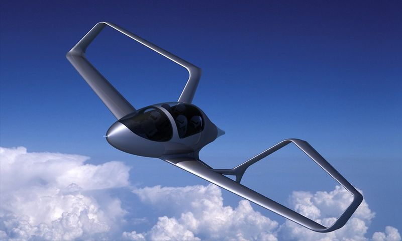 Artist concept of the Syngergy box-wing plan 1