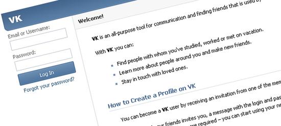 Vkontakte is the leading Russian social network