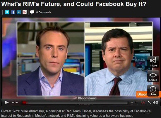 What's RIM's Future, and Could Facebook Buy It