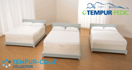 Tempur Pedic TEMPUR-Cloud Collection offers cloud-like soft mattress and responsive support. Comes in three models, Cloud, Cloud Luxe and Cloud Supreme and