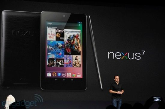 Hugo Barra, Director of Product Management, Android, presents Google's Nexus 7 tablet