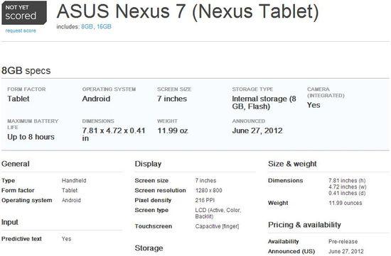 Asus Nexus 7 Tablet 1