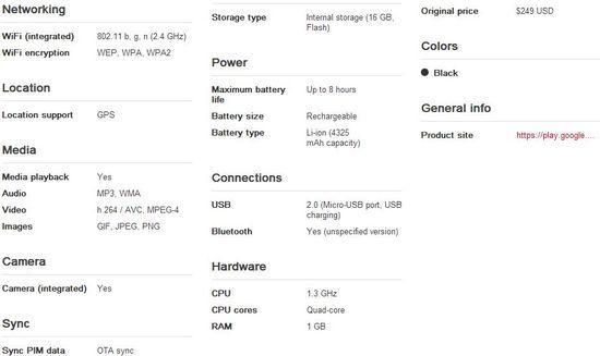 Asus Nexus 7 Tablet 4