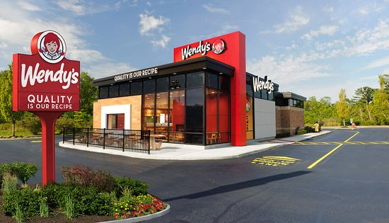 Wendy's store with new corporate logo