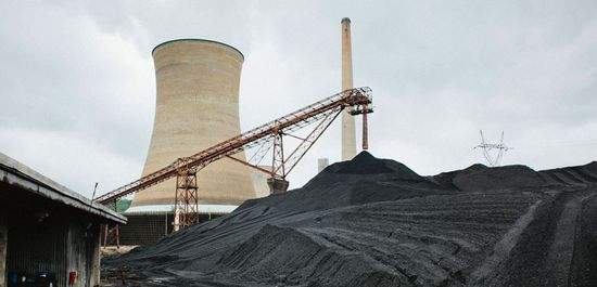 The Big Sandy coal-fired power plant in Kentucky burns through 90 railroad cars of coal every day