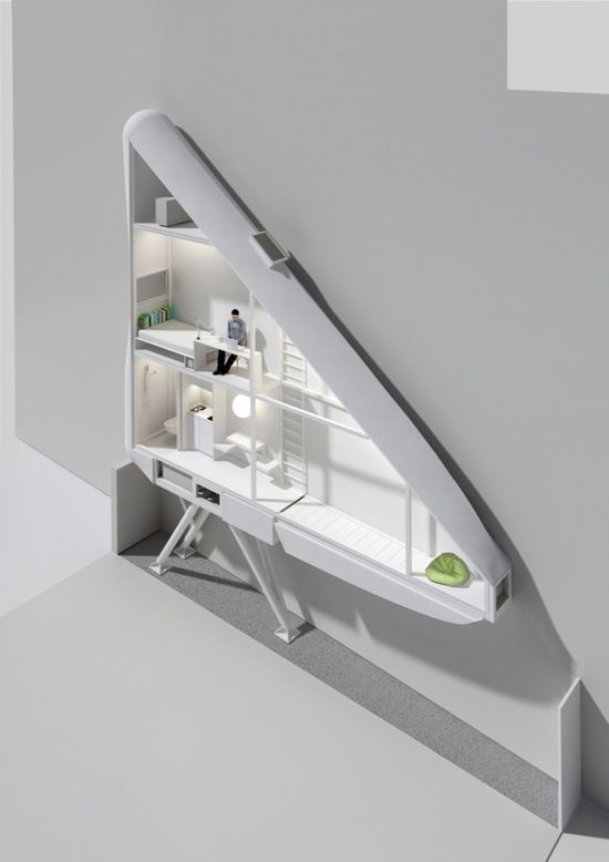 Conceptual drawings of The Keret House