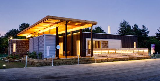 Solar homestead a sleek pre fabricated solar powered and for Deltec homes cost