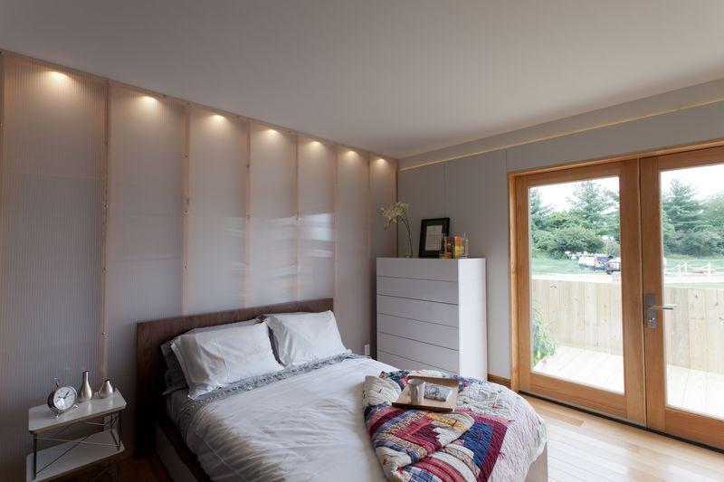 Bedroom of the Solar Homestea house