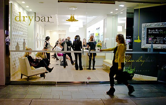 Drybar salon in midtown Manhattan, New York City opened in September 2011