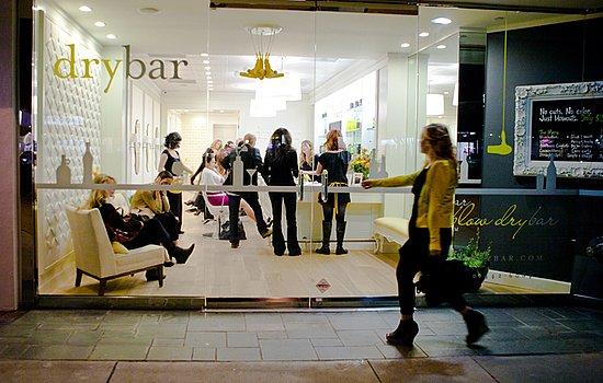 Drybar salon in midtown Manhattan, New York City opened in September 2011