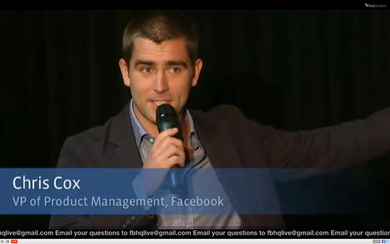 Chris Cox, Facebook VP of Product Management