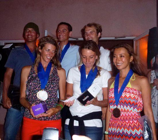 The Suunto Vertical Blue champions for 2012, Men - William Trubridge, Alexey Molchanov and Robert King, Women - Alena Zabloudlova, Ashley Futral Chapman and Tomoka Fukuda