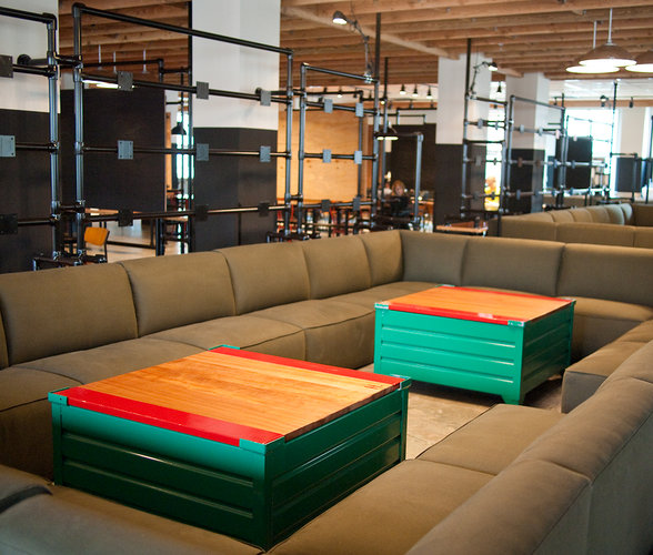 Facebook's Epic Cafe has big, communal areas for socializing