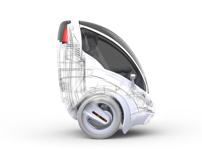 The Citi.Transmitter is a two-wheeled, single seat electric vehicle