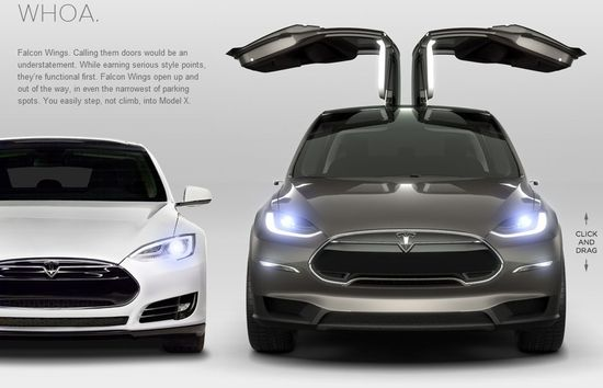 The Tesla Model X Falcon Wings allow easy in-and-out access even in the tightest parking spaces