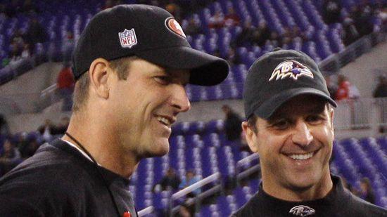 The Harbaugh Brothers - Jim Harbaugh (San Francisco 49ers) and John Harbaugh (Baltimore Ravens)
