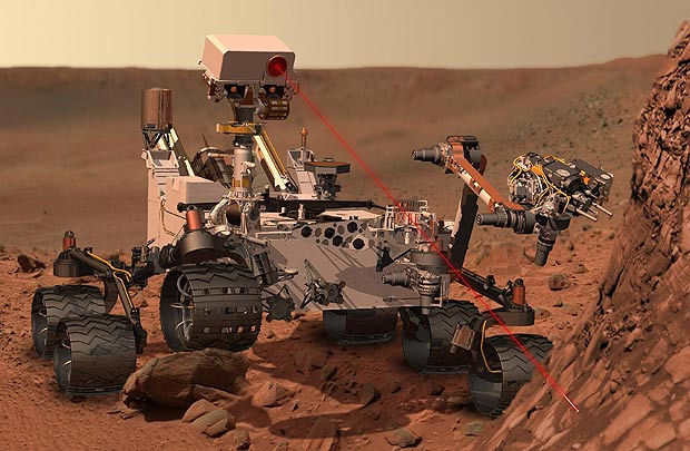 NASA's Curiosity rover finds a shiny piece of metal on Mars