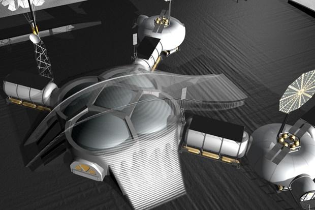 3D concept illustration of NASA JPL's first lunar base 2