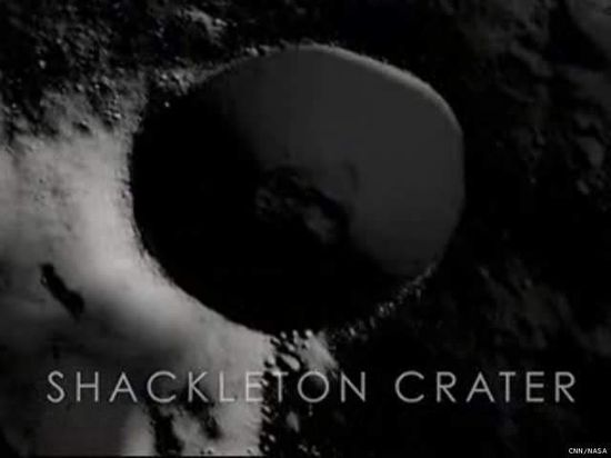 Shackleton Crater, the site of NASA JPL's proposed lunar base 1