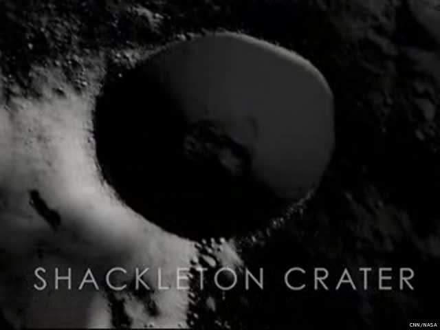 Shackleton Crater, the site of NASA JPL's proposed lunar base 1